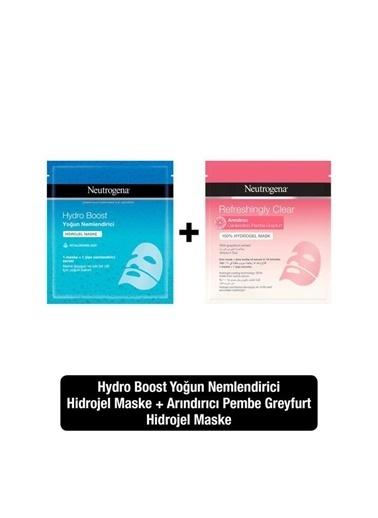 Neutrogena Hydro Boost Yoğun Nemlendirici + Refrehsingly Clear Arındırıcı Hidrojel Maske Renksiz